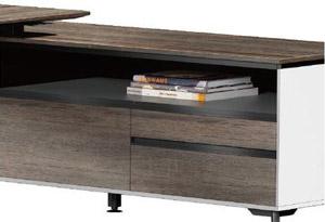 钢架式现代老板办公桌侧柜