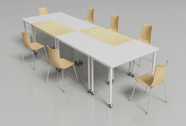 自由组合长形桌 多功能会议桌 可移动会议桌 现代简约会议桌椅 现代简约可移动会议桌 hyzqt20170721004
