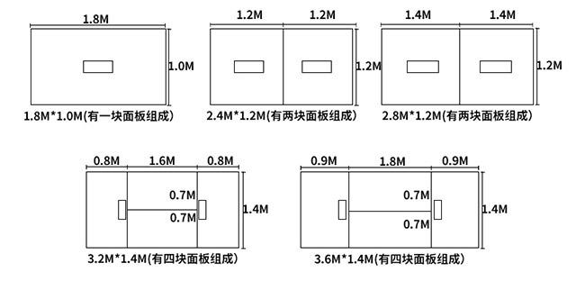 可移动会议桌尺寸