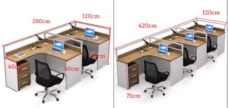 十字形工位办公桌尺寸