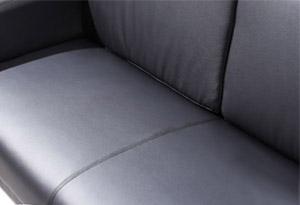 公司接待室真皮沙发坐垫