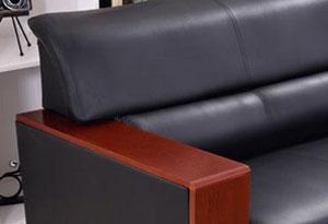 三人真皮沙发办公坐垫设计
