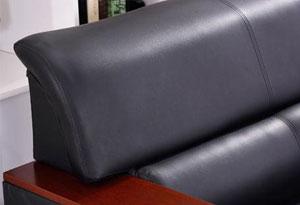 三人真皮沙发办公真皮材质