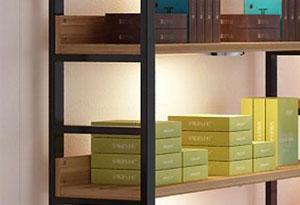 化妆品木质展示架制作-上海品美展柜厂