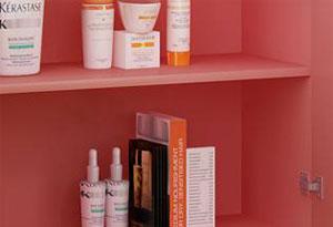 美容产品展示柜隔板