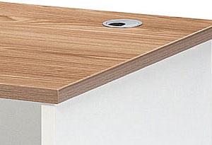 木质办公桌孔盒设计