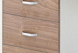 木质办公桌侧柜设计