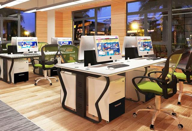 隔断办公桌定做-隔断卡座员工办公桌-员工办公桌4人