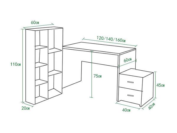 1米2办公桌尺寸