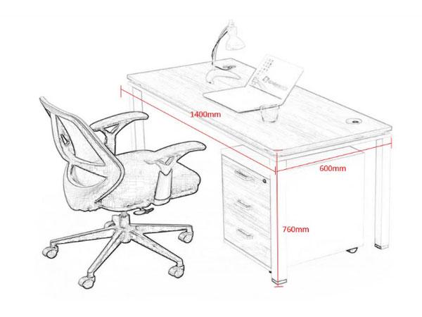 单人办公桌尺寸