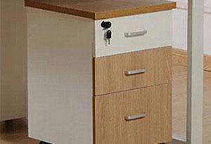 单人办公桌侧柜设计