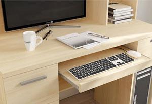 电脑书柜一体桌抽面设计