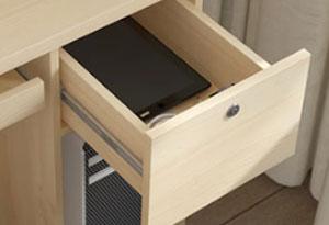 电脑书柜一体桌侧柜设计