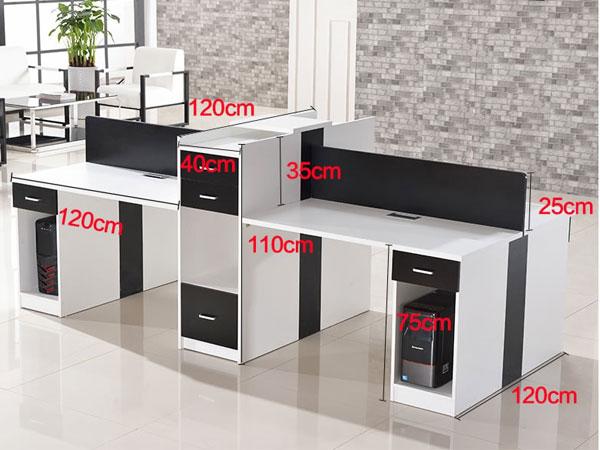 6人位办公桌尺寸