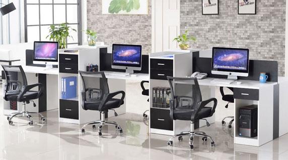 6人位办公桌设计