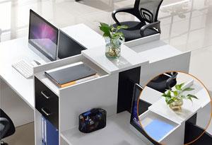 6人位办公桌顶板设计