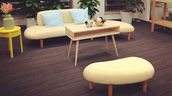 办公室弧形沙发特点
