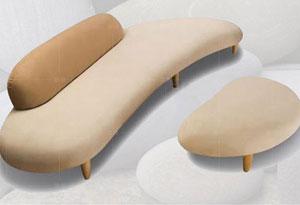 办公室弧形沙发造型