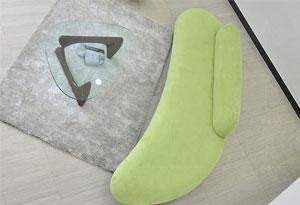 办公室弧形沙发坐垫