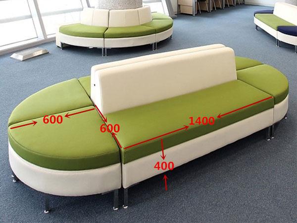 办公室拼接式沙发尺寸