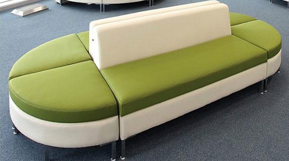 办公室拼接式沙发设计