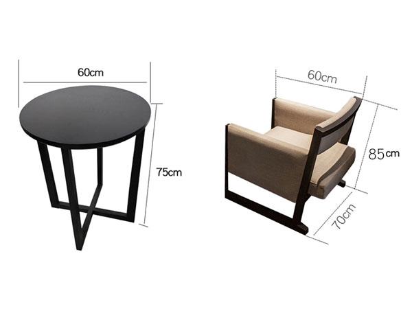 销售洽谈桌椅尺寸
