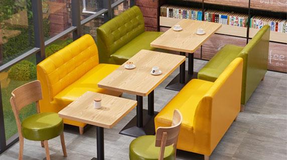 咖啡店卡座沙发设计