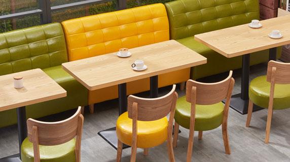 咖啡店卡座沙发特点