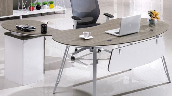 圆弧形办公桌设计