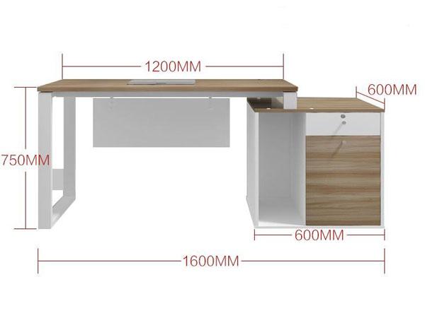 现代办公桌尺寸