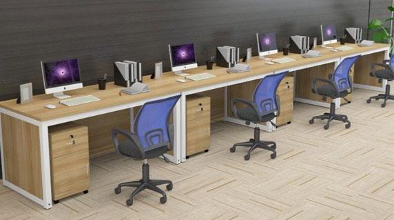 单人员工办公桌设计