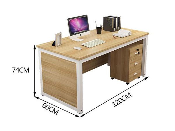 单人员工办公桌尺寸