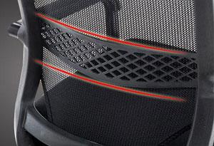 网椅腰部设计