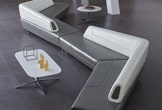 公司大厅转角沙发定制