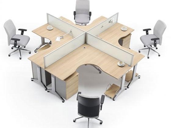 职员办公桌大全,圆形四人办公桌