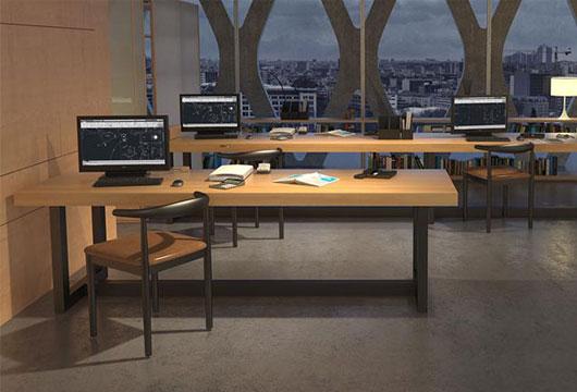 长条办公桌