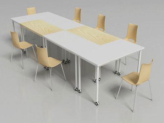 20人会议室会议桌解决方案