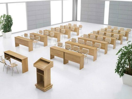一款报告厅会议桌椅的介绍