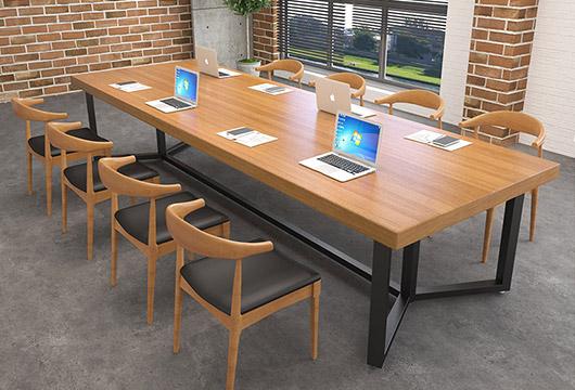 实木长条会议桌