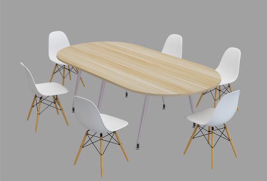 椭圆形钢脚会议桌