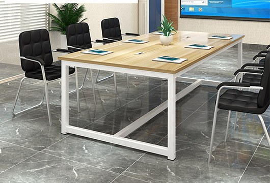 小型会议桌 钢木结合