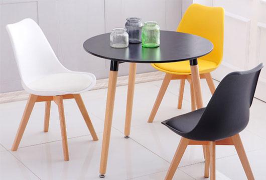 圆形玻璃洽谈桌
