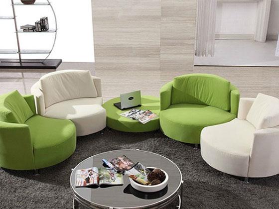 布艺办公室沙发打造艺术气息的休息室