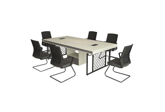 简易板式大小型会议桌椅 简约现代长条桌