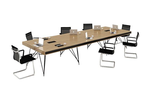 带线盒会议桌 公司会议桌定制