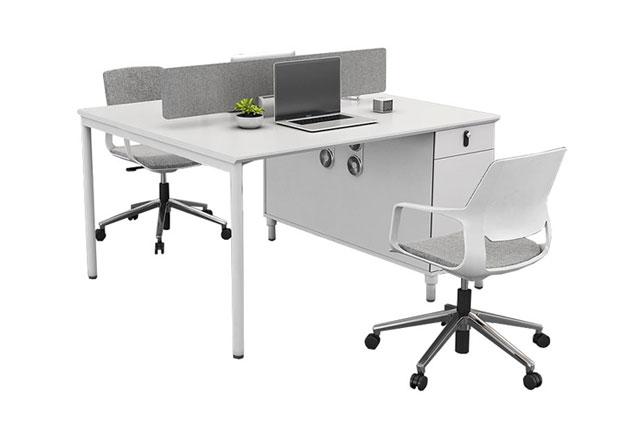 白色办公桌-白色现代办公桌-白色办公桌样式