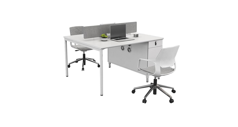 白色办公桌样式