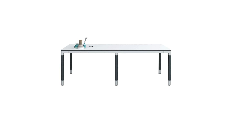 钢木结合会议桌 现代板式会议桌