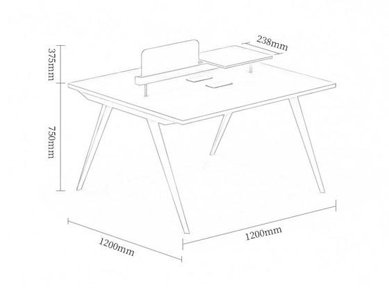 办公桌尺寸图