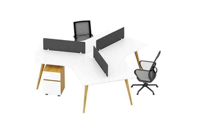 扇形屏风办公桌-扇形简易办公桌